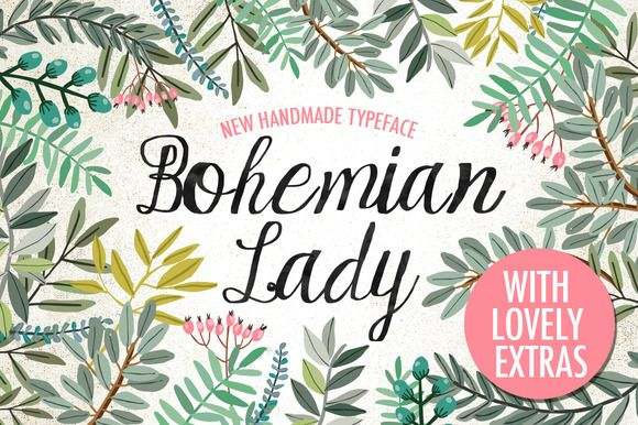 Bohemian Lady Font by Mia Charro on Creative Market