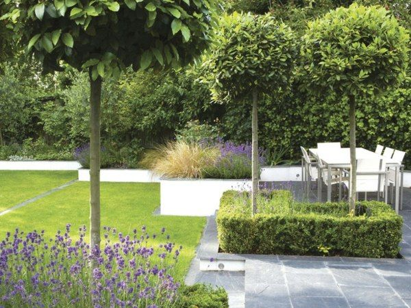 Unique Beton St tzmauer Rasen englischer Garten Idee