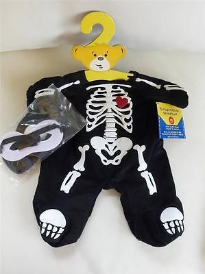 RARE - bnwt SKELETON costume - BUILD A BEAR Halloween outfit