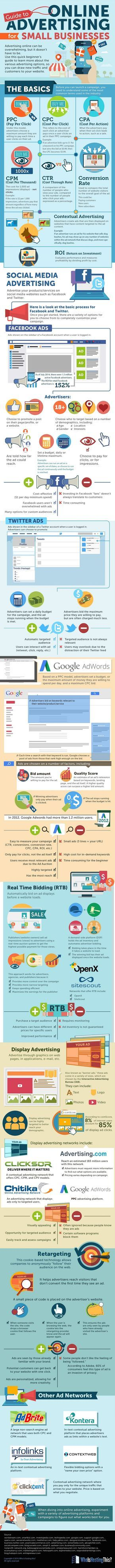Guide To #OnlineAdvertising For Small Businesses - #Socialmediamarketing #infografía