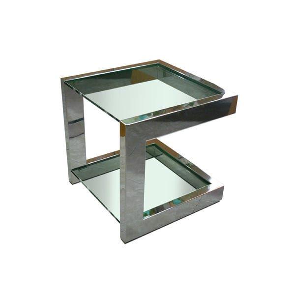 mesa auxiliar moderna de hierro de metal lacado lisa gonzalo de salas