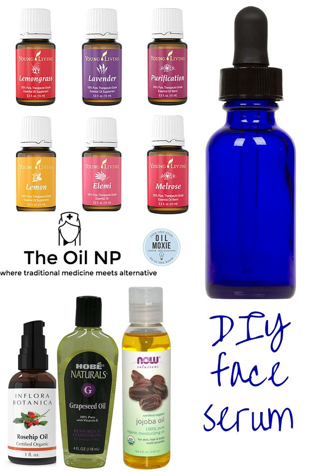 The Oil Nurse Practitioner | DIY Face Serum and to learn which oils come in the premium starter kit visit http://www.livingyourlifenaturally.com/premium-starter-kit/.
