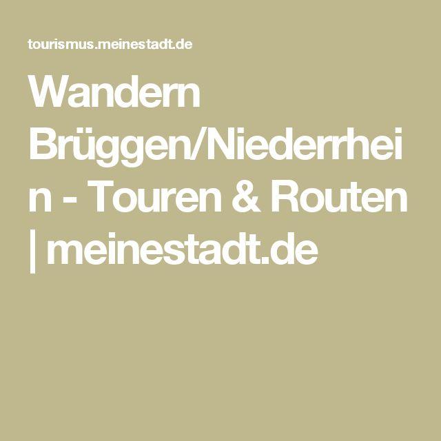 Wandern Brüggen/Niederrhein - Touren & Routen   meinestadt.de