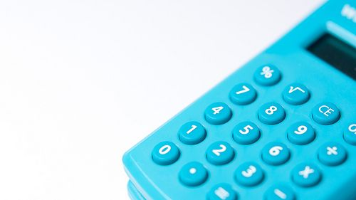 Turquoise calculator buttons macro