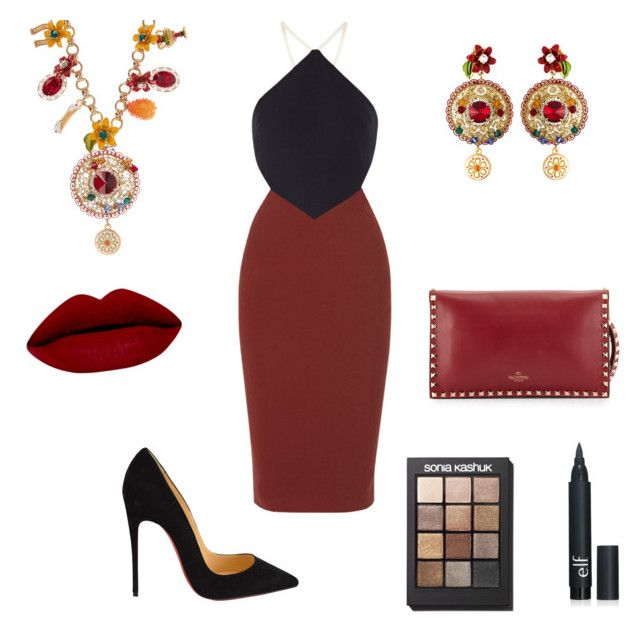 """""""Untitled #41"""" by evelin-pap on Polyvore featuring Elizabeth and James, Christian Louboutin, Valentino, Dolce&Gabbana, Sonia Kashuk, women's clothing, women, female, woman and misses"""