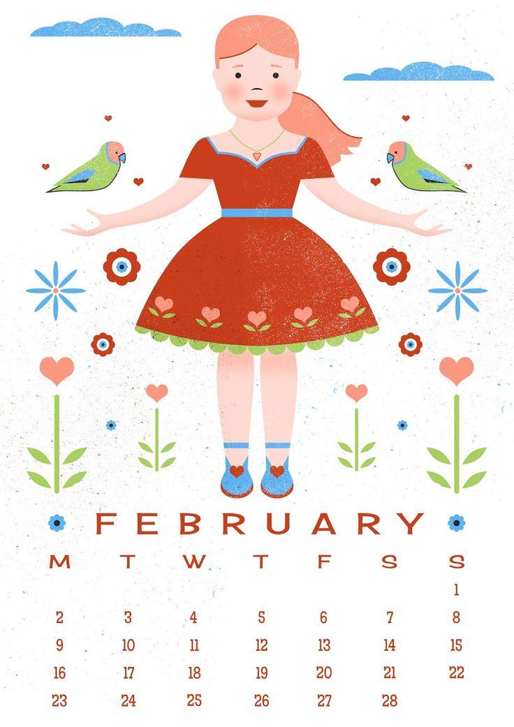 February Calendar Illustration : Best carly s illustrations images on pinterest art