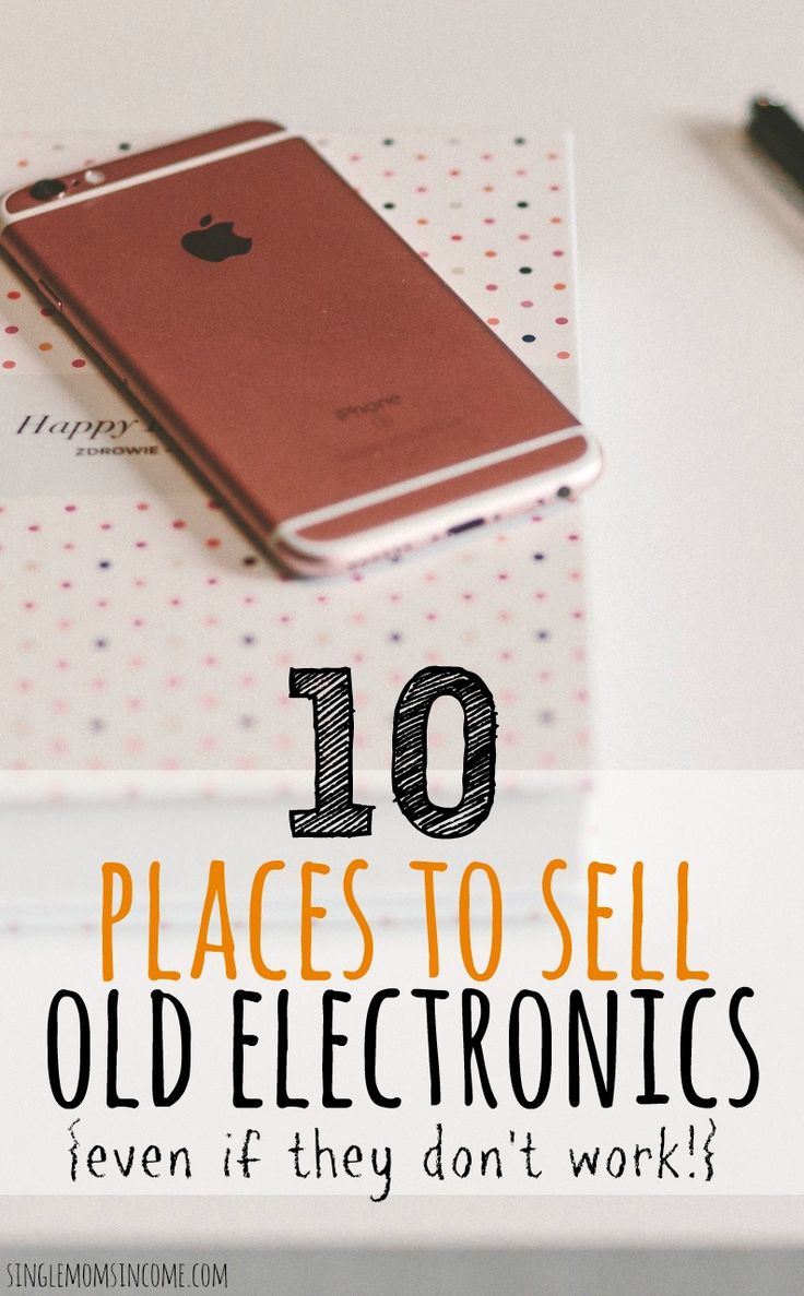 If you have cell phones, laptops or tablets lying that never get used you can sell them. Here are ten places to sell old electronics. (Even broken ones!)