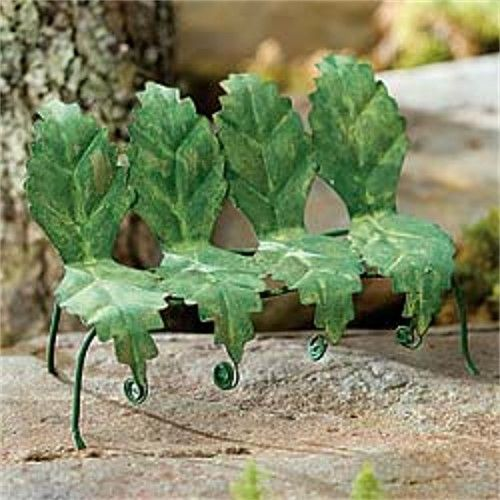 Tiny Leaf Bench   Green. Miniature FairiesMiniature Fairy GardensMini ...