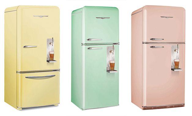 Brew Master 2, geladeira em estilo retrô com chopeira acoplada. Melhor, impossível!