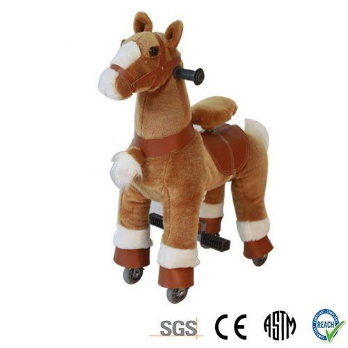 Golden Tan SMALL Trotting Action Horse Pony Ages 2 5 Boys & Girl Ride on Cycle Giddy Up Cowboy! by TODDLER TOYS. #Golden #SMALL #Trotting #Action #Horse #Pony #Ages #Boys #Girl #Ride #Cycle #Giddy #Cowboy! #TODDLER #TOYS