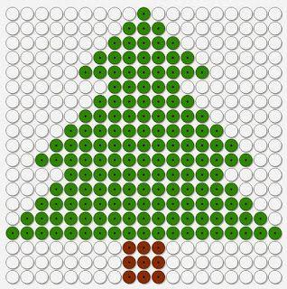 kralenplank kerst, kerstboom dennenboom