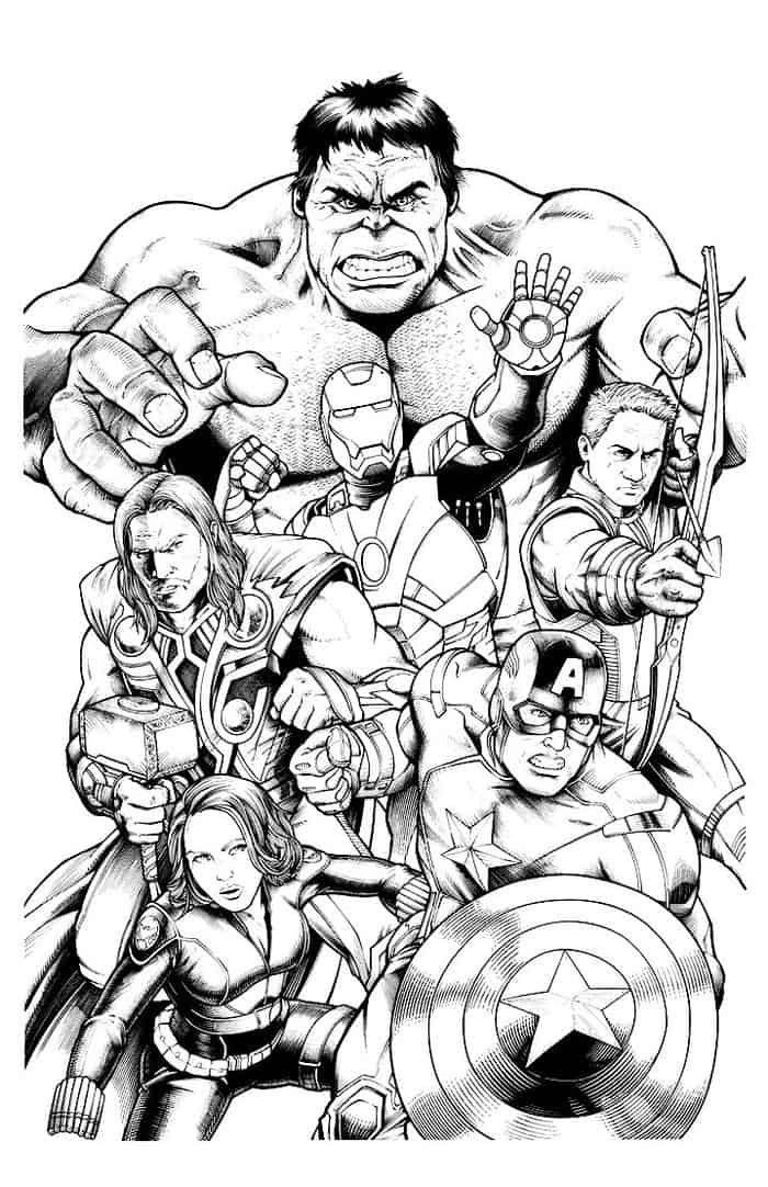 Avengers Characters Coloring Pages In 2020 Marvel Coloring Avengers Coloring Superhero Coloring