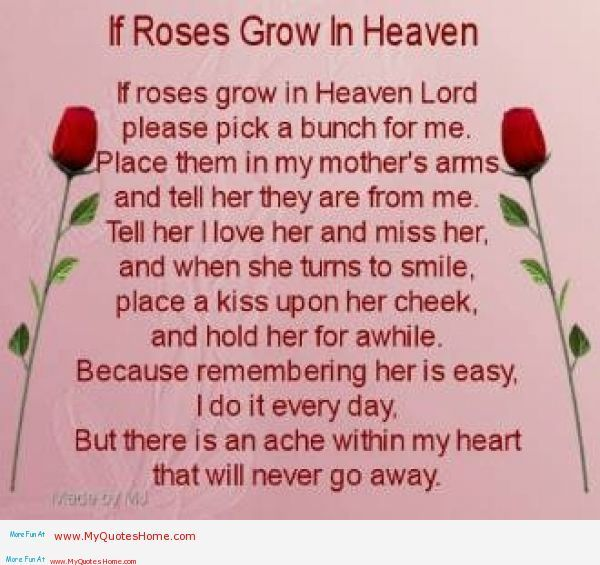Happy Birthday To My Mom In Heaven