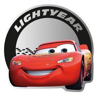Miroir adhésif rouge Cars MC QUEEN