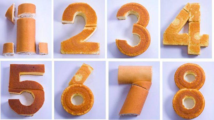 Gâteaux en forme de chiffre