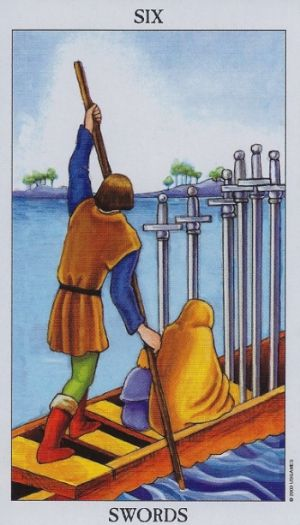 Tarot Cards: Transitions and the 6 of Swords