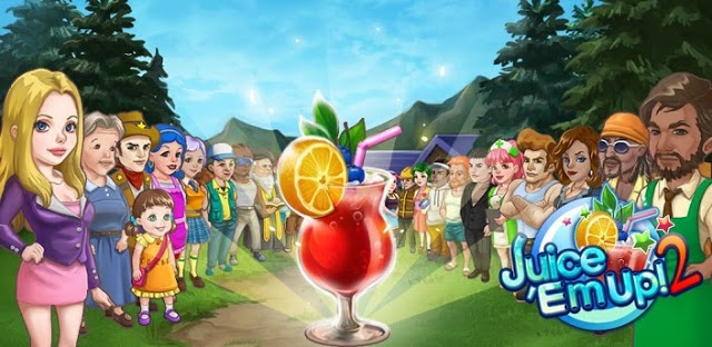 """Juice 'Em Up """"is a business-simulation-game, players create their own strawberries-oranges- lemons & other fruits juice_shop, & you need to ..\\.....//.."""