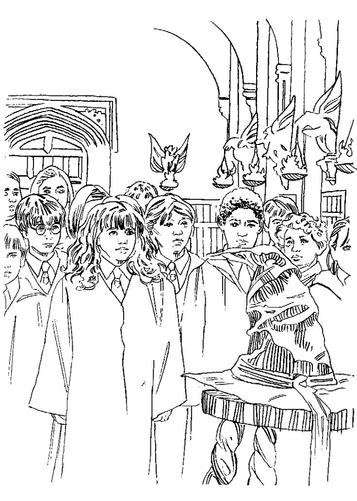 93 best Coloring Pages Harry Potter images on Pinterest Harry