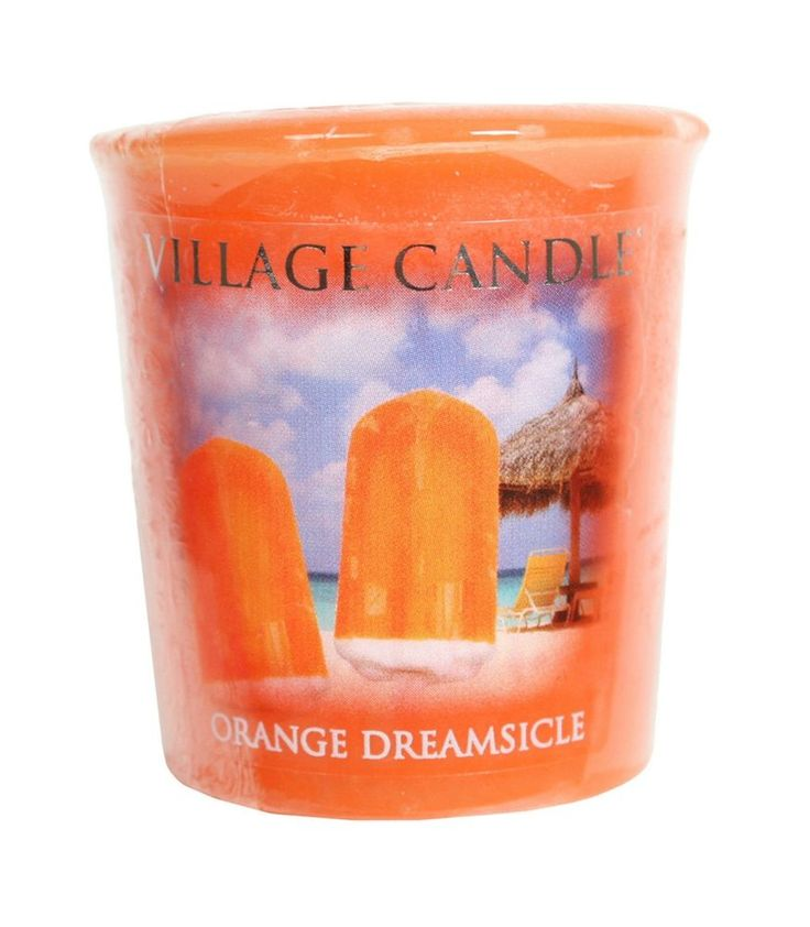 Village Candle Set of 22 Premium Votive Candles Orange Dreamsicle