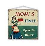 Cartello metallo vintage MOM'S