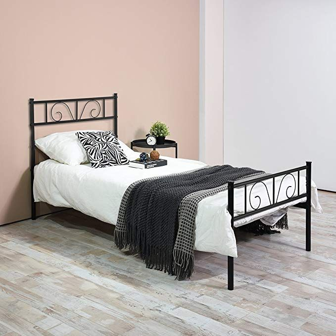 Gime Twin Bed Frame Yanni Adrina Easy Set Up Premium Metal