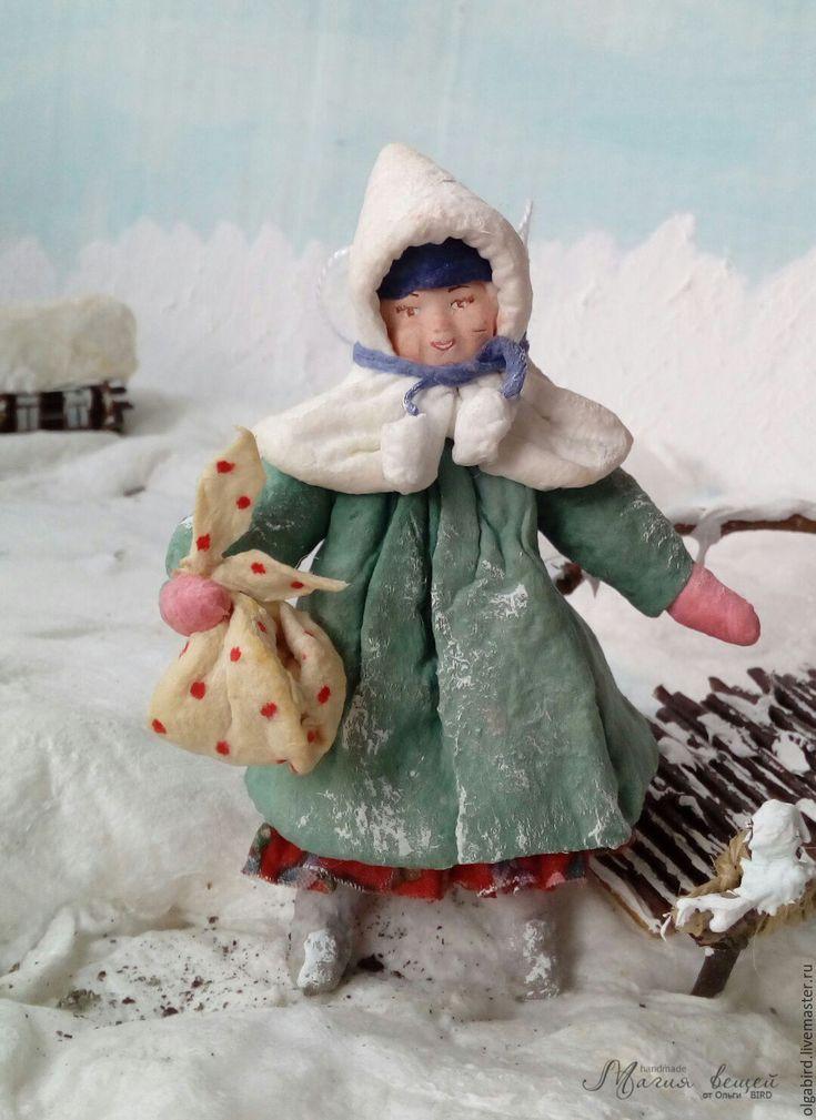 Купить резерв Ватная елочная игрушка АННУШКА - ватная игрушка, ватная елочная…