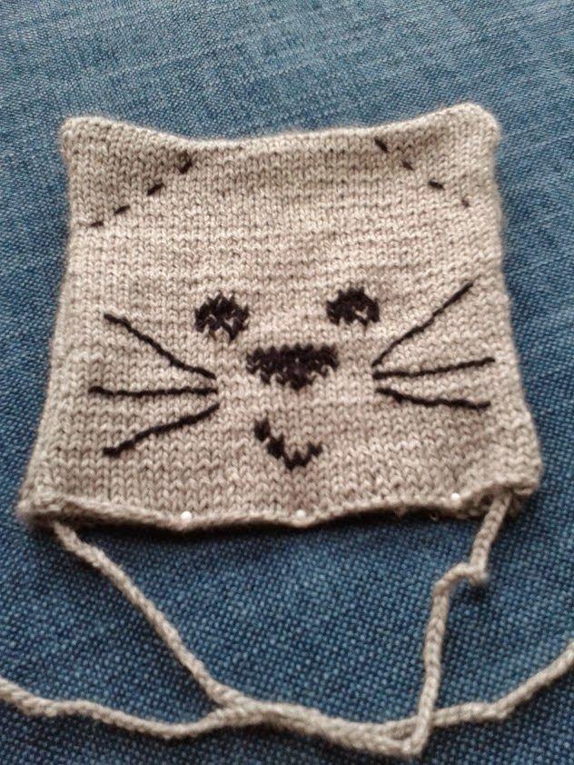 Gebreid baby mutsje, knitting baby cap