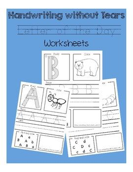These letter of the day worksheets are easy to use and align with the Handwriting without Tears curriculum. If you aren't familiar with the curriculum, it give a hands on way to build uppercase letters. When we do these worksheets in my class, we use our wood pieces and mats to build the letter first and then the student trace the wood piece section with a crayon.