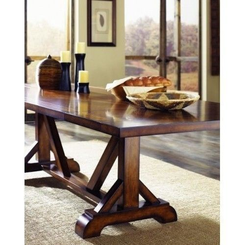 Rustic Dining Table Farmhouse Amish Cabin Wood Furniture