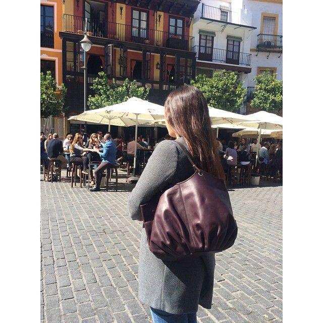 Happy ❤️ when the sun shines   The Plum Talega in Plaza del Salvador.