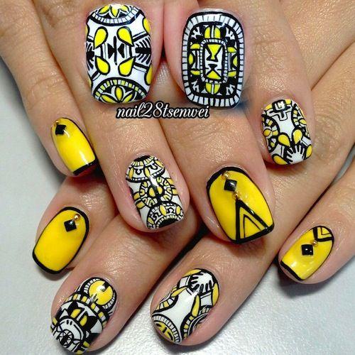 nail polish yellow toenails quote