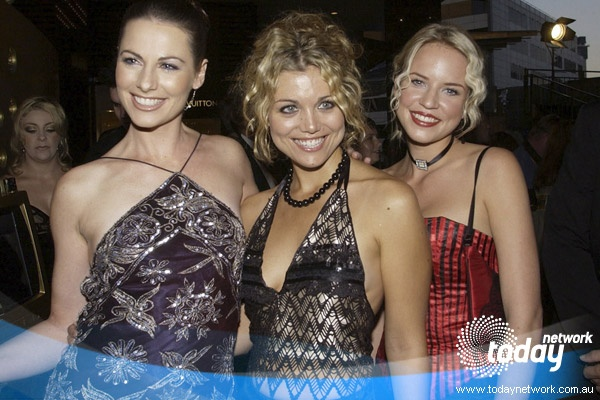 Lisa Chappell, Bridie Carter and Jessica Napier from McLeod's Daughters at the 2002 Logie Awards
