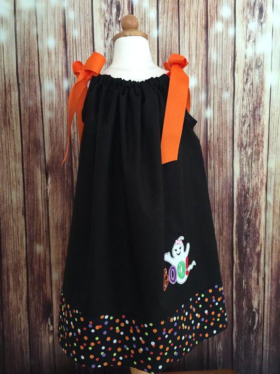 Taie doreiller de Halloween robe noir et Orange taie