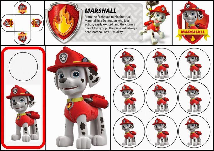 Paw Patrol: Free Printable Mini Kit of Marshall.