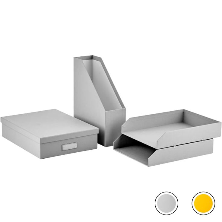 Made Essentials Alida Home Office Set : Document File / Stackable Tray / A4 Document Box, Grey from Made.com. Express delivery. Paperwork a plenty? ..