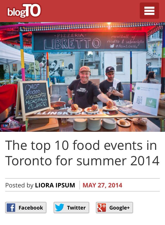 For the complete list of the Top 10 Food Events in Toronto for Summer 2014 visit - http://www.blogto.com/eat_drink/2014/05/the_top_10_food_events_in_toronto_for_summer_2014/. Will you be attending any? Share your experiences on Chekplate!
