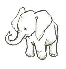 easy drawings of elephants makE - Google Search