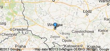 Mapa miejsc, w których mieszkała ta osoba