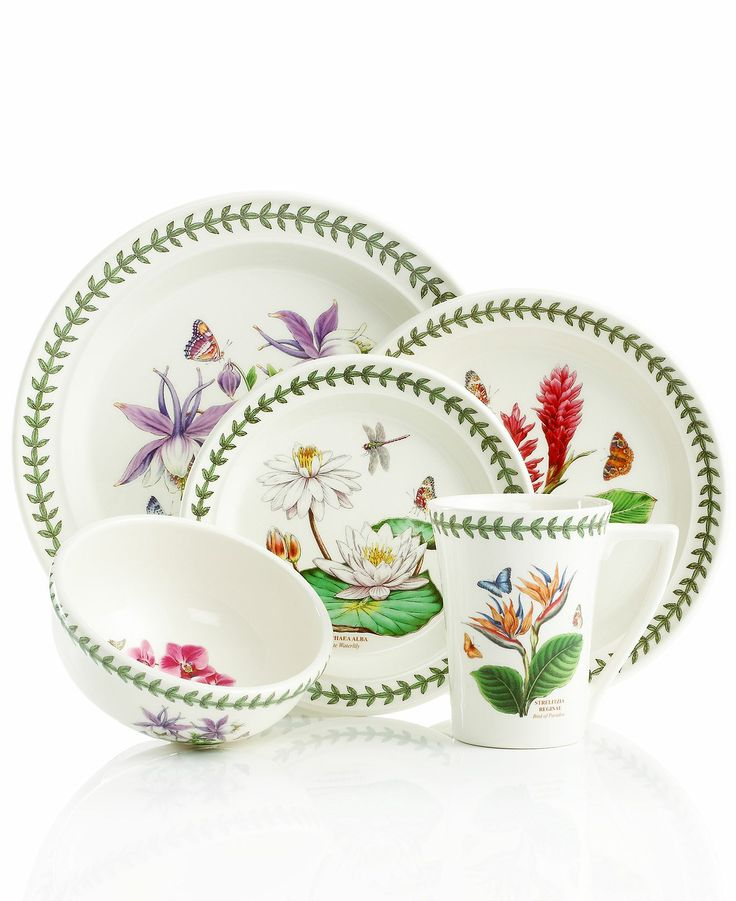 388 best images about dinnerware dish sets on pinterest for Portmeirion dinnerware set of 4 botanic garden canape plates