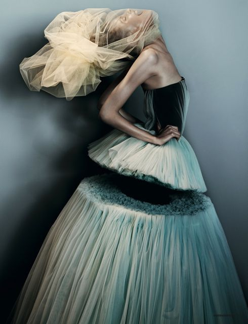 Magdalena Frackowiak by Josh Olins   in Victor and Rolf/ Dazed and Confused