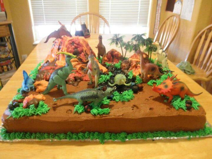 Dinosaurs Birthday cake Birthday Ideas Pinterest ...