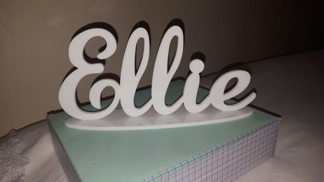 Laser cut acrylic. Laser cut name plaque. Personalised present