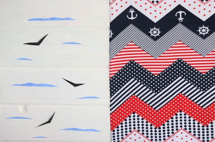 Сидим, смотрим на тканюшку с данным принтом и мечтаем о море😜  Дизайн: 3542 - морячка: зигзаг якорь + штурвал (180 см; 190 гр;) - 7 $