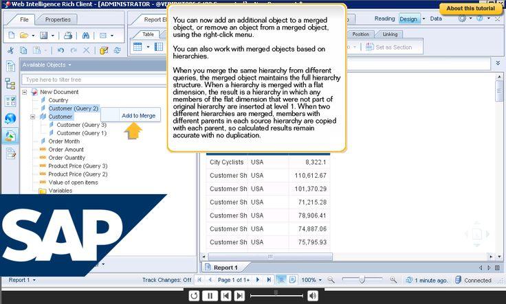 Official Product Tutorials – SAP BusinessObjects Web Intelligence  http://scn.sap.com/docs/DOC-7819