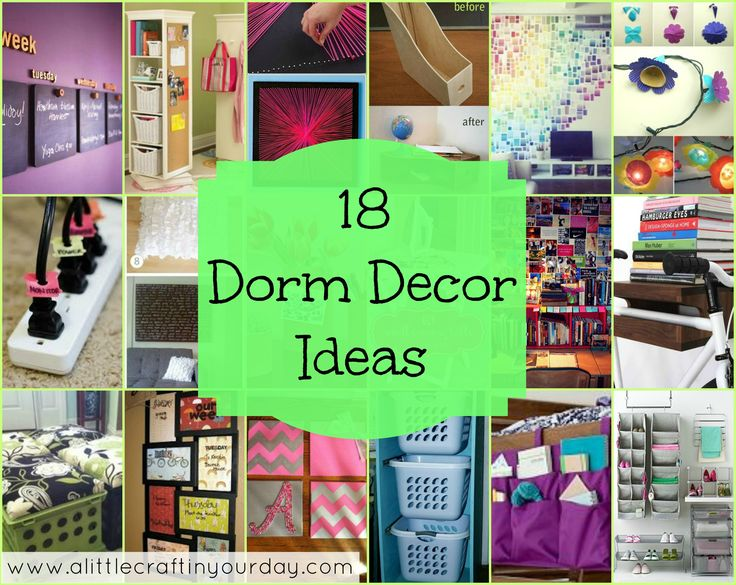 Dorm Room Themes for Girls | 18 Dorm Decor ideas - A Little Craft In Your DayLittle Crafts, Decor Ideas, 18 Dorm, Dorm Room, Dorm Decor, Room Decor, Room Ideas, Dorm Ideas, Dorms Decor