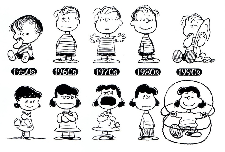 Linus and lucy van pelt through the ages nerdvana for Charlie brown zitate