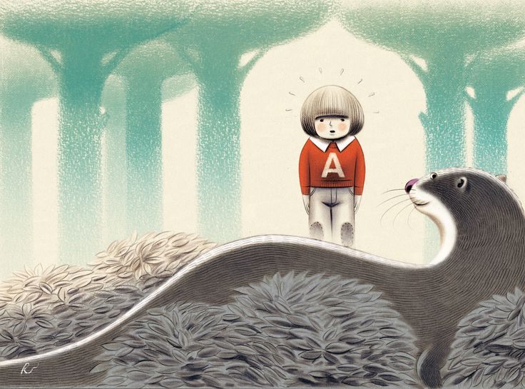 "Andrea Rivola illustration for ""Nei panni di una lontra""."