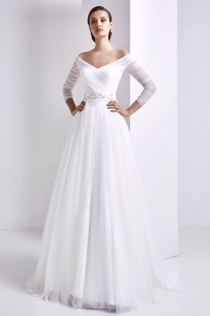 Vestiti Sposa Chic ~ Modanovias glamour minimal chic per la collezione 3de542ba31b