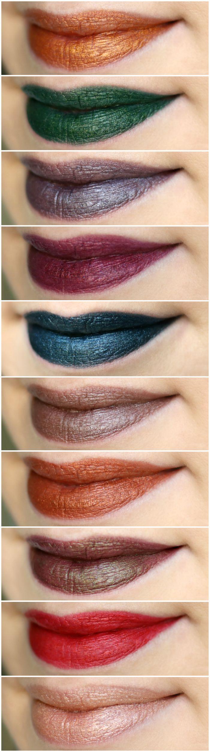 Maybelline Matte Metallic Lipstick Swatches
