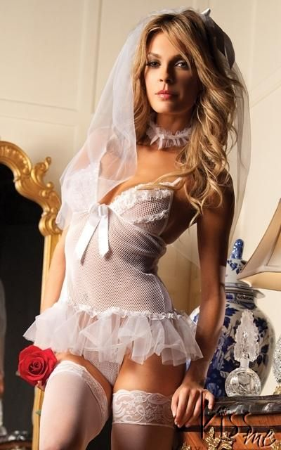 Details About Sexy Sweetheart Bride Bedroom Costume Bridal